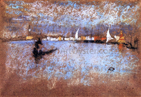 James McNeill Whistler The Guidecca - Winter: Grey and Blue - Hand Painted Oil Painting