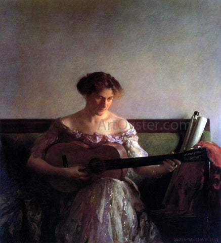 Joseph DeCamp The Guitar Player - Hand Painted Oil Painting