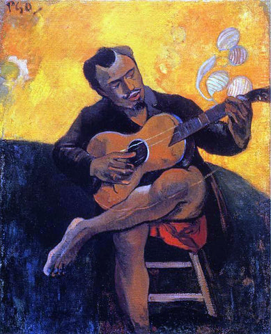 Paul Gauguin The Guitar Player - Hand Painted Oil Painting