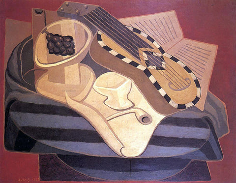 Juan Gris The Guitar with Inlay - Hand Painted Oil Painting