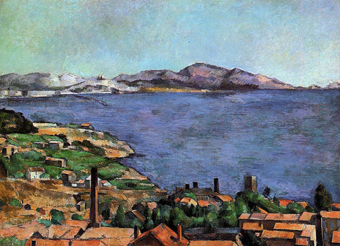 Paul Cezanne The Gulf of Marseilles Seen from L'Estaque - Hand Painted Oil Painting