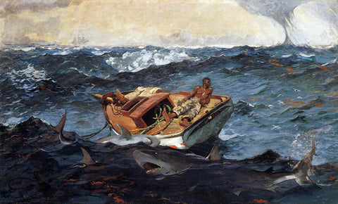Winslow Homer The Gulf Stream - Hand Painted Oil Painting