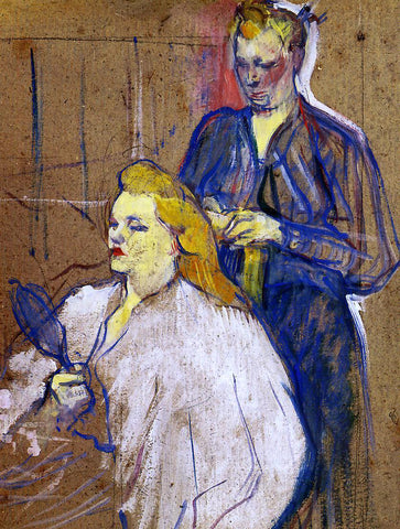 Henri De Toulouse-Lautrec The Hairdo - Hand Painted Oil Painting