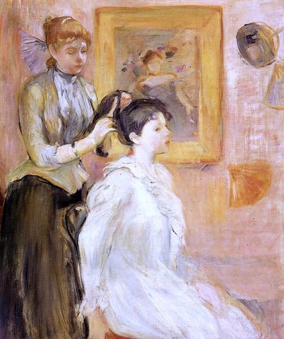 Berthe Morisot The Hairdresser - Hand Painted Oil Painting