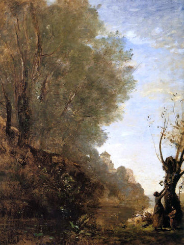 Jean-Baptiste-Camille Corot The Happy Isle - Hand Painted Oil Painting