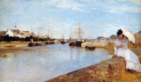 Berthe Morisot The Harbor at Lorient - Hand Painted Oil Painting