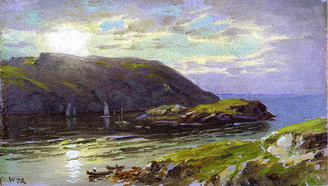 William Trost Richards The Harbor at Monhegan - Hand Painted Oil Painting