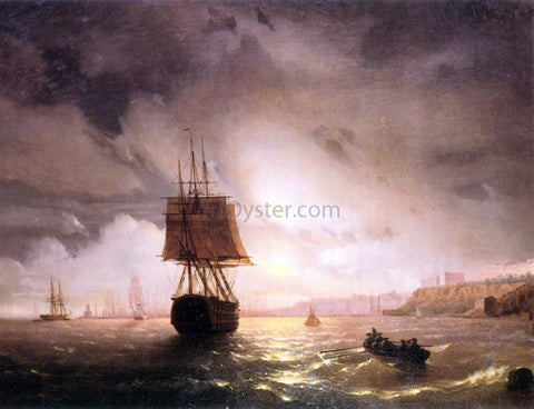 Ivan Constantinovich Aivazovsky The Harbor At Odessa On The Black Sea - Hand Painted Oil Painting