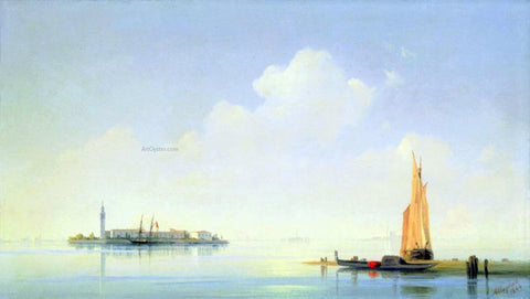 Ivan Constantinovich Aivazovsky The harbour of Venice, the Island of San-Georgio - Hand Painted Oil Painting