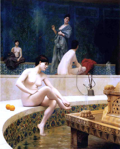 Jean-Leon Gerome Harem Bathing - Hand Painted Oil Painting