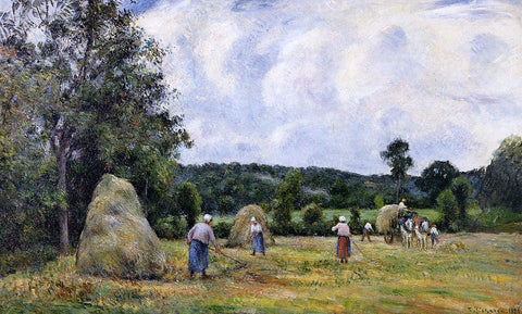 Camille Pissarro The Harvest at Montfoucault - Hand Painted Oil Painting