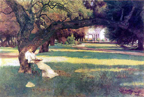John Herberg Partington The Haven's Estate, Piedmont, California - Hand Painted Oil Painting