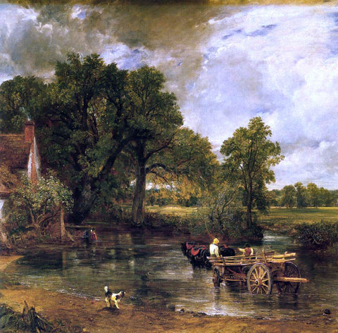 John Constable The Hay-Wain (detail) - Hand Painted Oil Painting