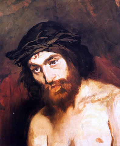Edouard Manet The Head of Christ - Hand Painted Oil Painting