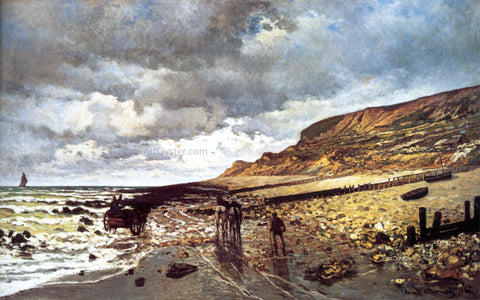 Claude Oscar Monet The Headland of the Heve at Low Tide - Hand Painted Oil Painting