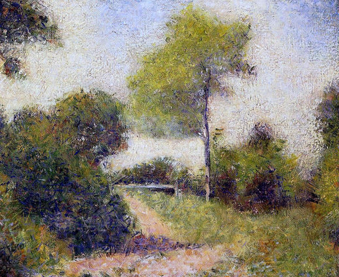 Georges Seurat The Hedge (also known as The Clearing) - Hand Painted Oil Painting