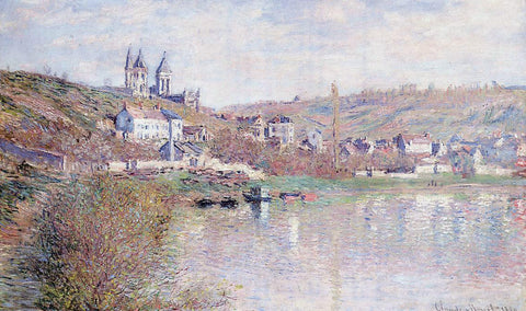 Claude Oscar Monet The Hills of Vetheuil - Hand Painted Oil Painting