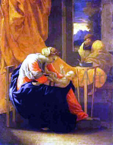 Nicolas Poussin The Holy Family - Hand Painted Oil Painting