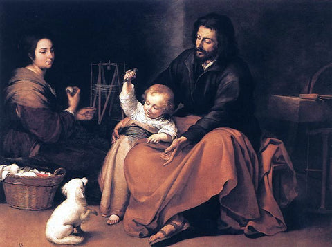 Bartolome Esteban Murillo The Holy Family - Hand Painted Oil Painting