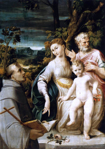 Girolamo Mazzola Bedoli The Holy Family - Hand Painted Oil Painting