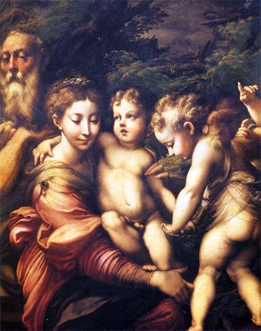 Girolamo Mazzola (Parmigianino) The Holy Family - Hand Painted Oil Painting