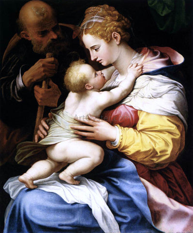 Girolamo Siciolante Da Sermoneta The Holy Family - Hand Painted Oil Painting