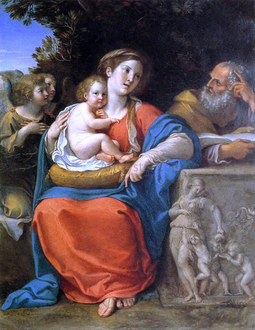 Francesco Albani The Holy Family - Hand Painted Oil Painting