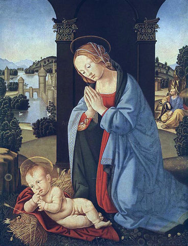 Lorenzo Di Credi The Holy Family - Hand Painted Oil Painting