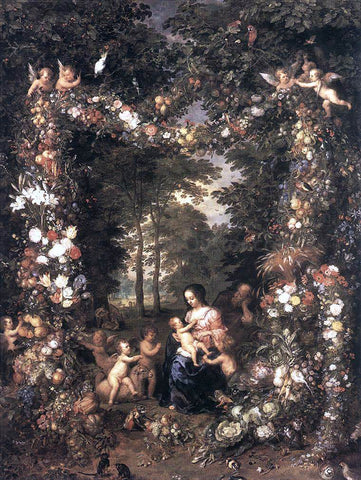 The Elder Jan Brueghel The Holy Family - Hand Painted Oil Painting