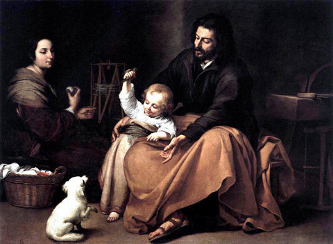 Bartolome Esteban Murillo The Holy Family with a Bird - Hand Painted Oil Painting
