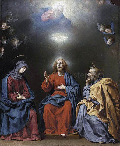Carlo Dolci The Holy Family with God the Father and the Holy Spirit - Hand Painted Oil Painting