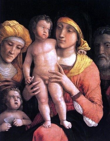 Andrea Mantegna The Holy Family with Saint Elizabeth and the Infant John the Baptist - Hand Painted Oil Painting
