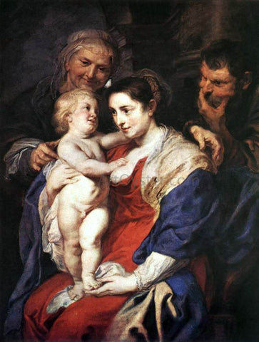 Peter Paul Rubens The Holy Family with St. Anne - Hand Painted Oil Painting