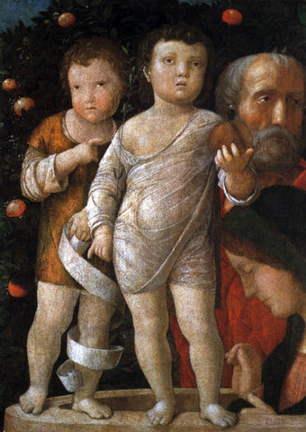 Andrea Mantegna The Holy Family with St John - Hand Painted Oil Painting