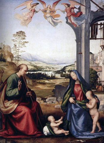 Fra Bartolomeo The Holy Family with St John the Baptist - Hand Painted Oil Painting