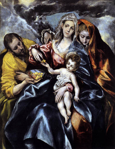 El Greco The Holy Family with St Mary Magdalen - Hand Painted Oil Painting