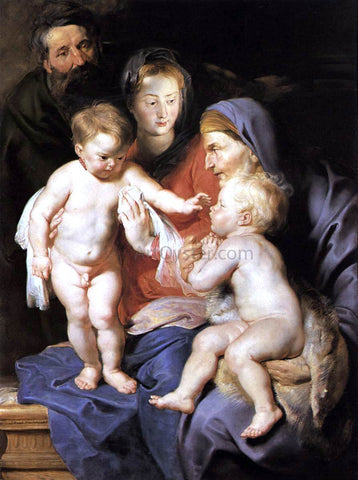 Peter Paul Rubens The Holy Family with Sts Elizabeth and John the Baptist - Hand Painted Oil Painting