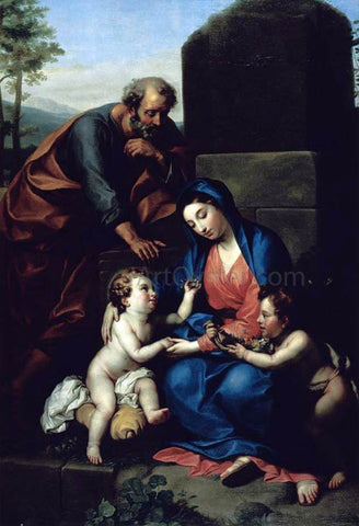Anton Raphael Mengs The Holy Family with the Infant St John the Baptist - Hand Painted Oil Painting