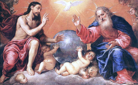 Antonio De Pereda The Holy Trinity - Hand Painted Oil Painting