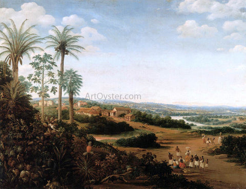 "Frans Post The Home of a ""Labrador"" in Brazil - Hand Painted Oil Painting"