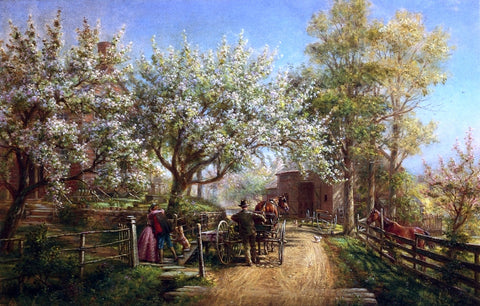 Edward Lamson Henry The Homecoming - Hand Painted Oil Painting