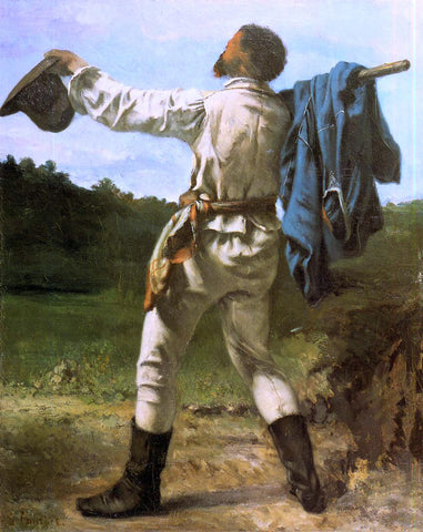 Gustave Courbet The Homecoming - Hand Painted Oil Painting