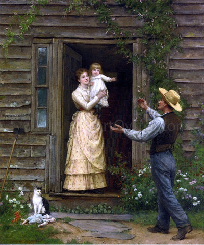 Jennie Augusta Brownscombe The Homecoming - Hand Painted Oil Painting
