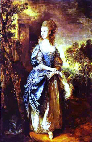Thomas Gainsborough The Hon. Frances Duncombe - Hand Painted Oil Painting