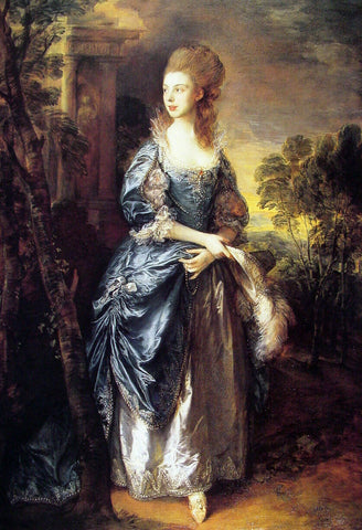 Thomas Gainsborough The Honourable Frances Duncombe - Hand Painted Oil Painting