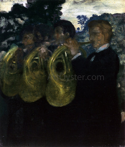 Arthur B Davies The Horn Players - Hand Painted Oil Painting