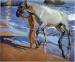 Joaquin Sorolla Y Bastida The Horse Bath - Hand Painted Oil Painting