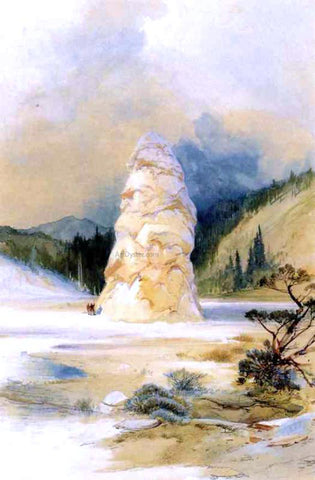 Thomas Moran The Hot Springs of Gardiners River, Extinct Geyser Crater - Hand Painted Oil Painting