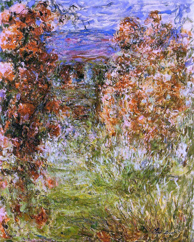 Claude Oscar Monet The House among the Roses - Hand Painted Oil Painting