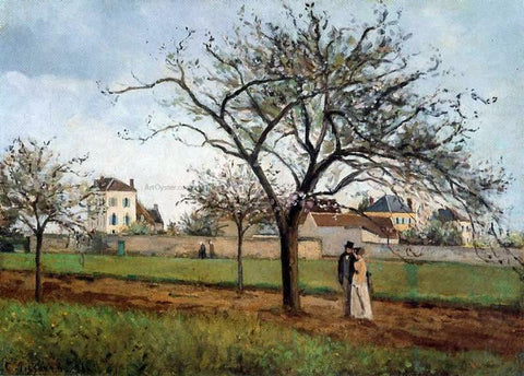 Camille Pissarro The House of Pere Gallien, Pontoise - Hand Painted Oil Painting